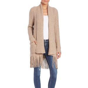 LINE Knitwear Blaine Fringe Cardigan Sweater S